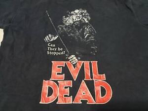 Rare-vintage-Evil-Dead-T-shirt-zombie-horror-movie-Sam-Raimi-Bruce-Campbell