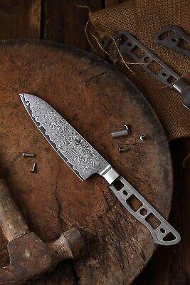 KATSURA Japanese Damascus AUS 10 woodworker Santoku knife