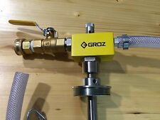 GROZ Coolant Mixer - Model CMX/3 - venturi style, water powered, 0-9% mix range