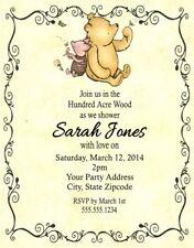 Winnie Pooh Piglet Baby Shower Or Birthday Party Invitations