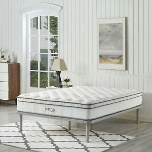 "Modway Jenna 10"" Pillowtop Innerspring Queen Mattress With ..."