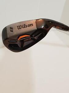 Wilson-8-Iron-Mens-Right-Handed-Player-Black-Jack-Senior-Flex-Graphite-Shaft