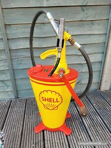 Vintage Shell Oil Dispenser by National Benzole Company Ltd