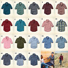 NWT Hollister-Abercrombie&Fitch Classic Poplin Plaid Shirt 100% Cotton blue red