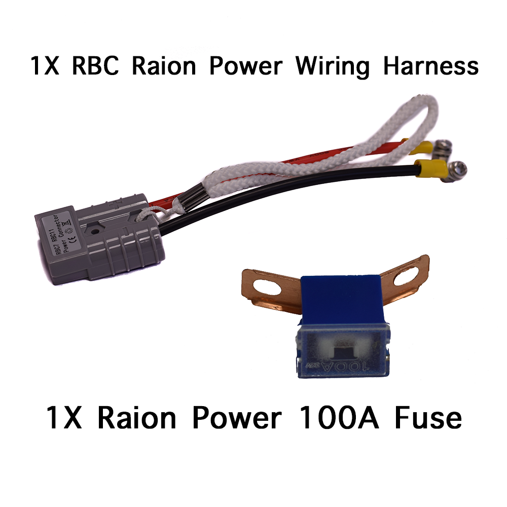 SPS Brand Complete Wire Harness with Terminal Covers and Fuse for APC SmartUPS SU1000XL RBC7 Battery Cartridge 8 Pack