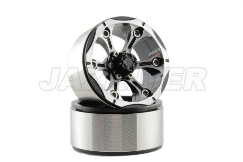 "B Jazrider Aluminum 1.9/""Beadlock 6-Spokes Wheels 2pcs For RC Crawler SCX10//CC01"