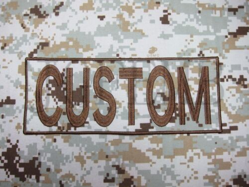 Custom name Tape Text brand Embroidery Back Of The Body Patch