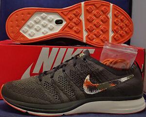 e274b7060dcd Nike Flyknit Trainer Velvet Brown Neutral Olive Orange SZ 9 ( AH8396 ...