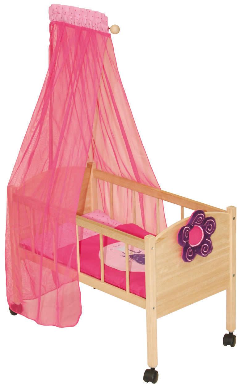Roba Puppenbett Happy Fee Bett mit Himmel Puppen Holz |rfee