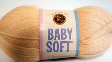 Lion Brand BABY SOFT Yarn 5 oz LEMON DROP (YELLOW) #2 Sportweight Same Dye Lot