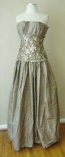 VINTAGE VICTOR COSTA SEQUINS LACE CORSET EVENING DRESS GOWN WEDDING FORMAL PROM