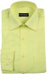 pretty nice 527b7 7063d Details zu BRUNO BANANI Hemd mit Brusttasche Oberhemd Herrenhemd Lemon Gelb  41/42