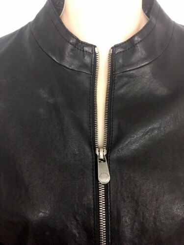 Cuir Noir Lezard Rene Up En Taille Court Veste 36 Zip IPtWqwC