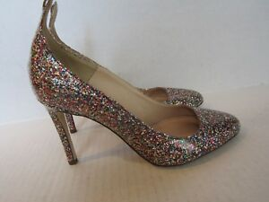 38f30c71d6f5 Details about J. Crew - Italy Women s Coated Multi-color Glitter Pumps Heels  Size 5.5M