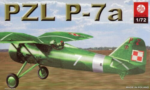 Polish Aircraft Fighter PZL P-7a  # Scale 1//72 # ZTS S-044