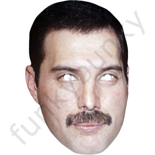 Freddie Mercury 1980/'s Celebrity Queen Card Mask All Our Masks Are Pre-Cut