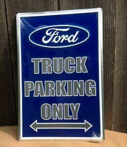 "*Embossed* 18/"" x 12/"" Ford Truck Parking Diamond Metal Sign Wall Bar Garage"