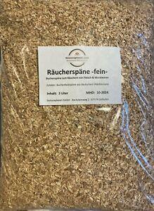 Raeucherspaene-fein-3-Ltr-Buchenholzspaene-Raeucherholz-Raeuchermehl-Buche
