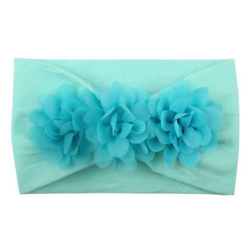 2Pcs Baby Infant Hairband knot Elastic Band Flower Headband Accessories LOCA