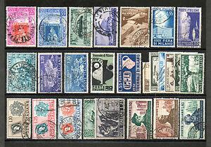 REP005-ITALIA-REPUBBLICA-1951-ANNATA-FRANCOBOLLI-USATI
