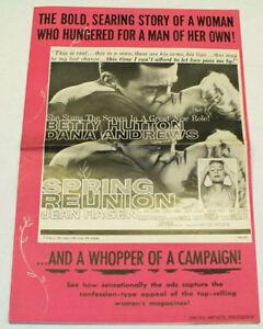 SPRING-REUNION-1957-Movie-Film-PRESSBOOK-Dana-Andrews