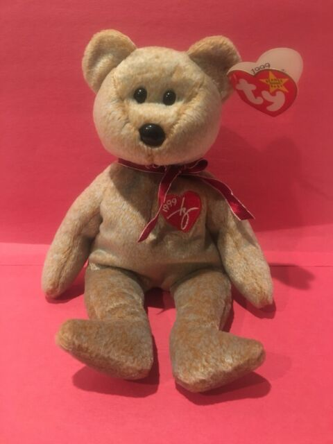 """New with Tag TY Beanie Babies /""""2000 SIGNATURE BEAR/"""" MWMT RETIRED MUST HAVE"""