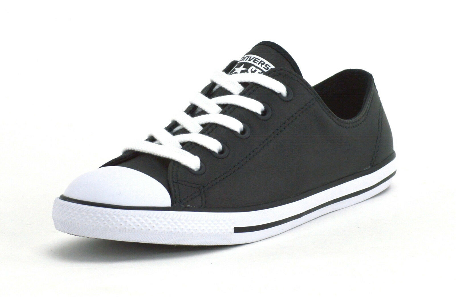 CONVERSE CT DAINTY LEATHER OX - 537107C -Damenschuhe SNEAKERS -BLACK/WEISS -BRAND NEW