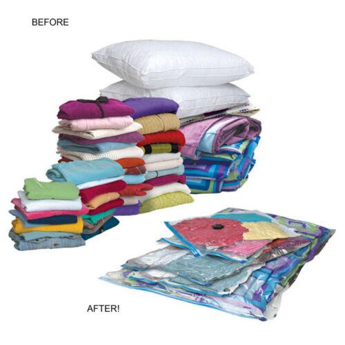 Household Compression Storage Bags Vacuum Seal Transparent Bag Organizer Clothes