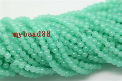 100pcs 4mm Round Glass Seed Loose Spacer beads Jewelry Making DIY Pick 30 Color