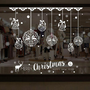 Image Is Loading Christmas Balls Window Wall Sticker Removable Home Shop