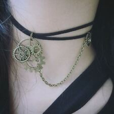 SteamPunk Cosplay Victorian Leather /& Lace Gears Choker NEW UNUSED SEALED