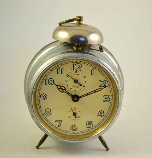 Antique KIENZLE 1920s Alarm clock Germany Vintage old desk ...