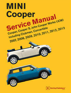 mini cooper cooper s clubman r55 r56 r57 2007 13 service repair rh ebay co uk Workshop Manuals PZ480 Pontiac Shop Manual 2007