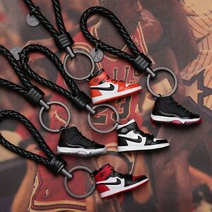 """Handcrafted AJ11 /""""Space Jam/"""" 3D Sneakers Key Chains Best Sneakers Gift"""