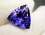High-quality-AAAAA-LOOSE-GEMSTONE-UNHEATED-BLUE-COLOR-TANZANITE-10mm-TRIANGLE thumbnail 2
