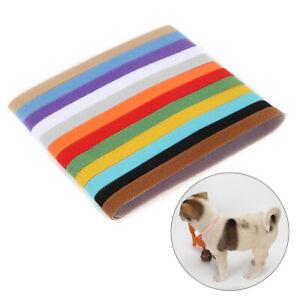 12-PCS-Puppy-Whelping-Collars-Newborn-ID-Furbabies-Bands-Litter-Dog-Kitten-Set
