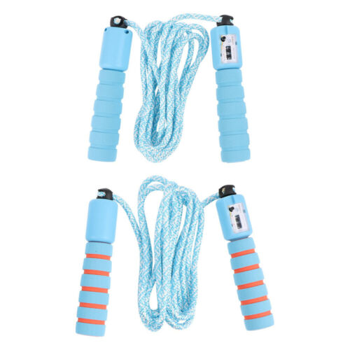 2pcs Automatic Counting Jump Rope Skipping Rope Interactive Props Fitness Ac