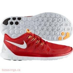 premium selection 340d5 12f1f Das Bild wird geladen NIKE-Free-5-0-Neu-Gymred-Rot-Sneaker-
