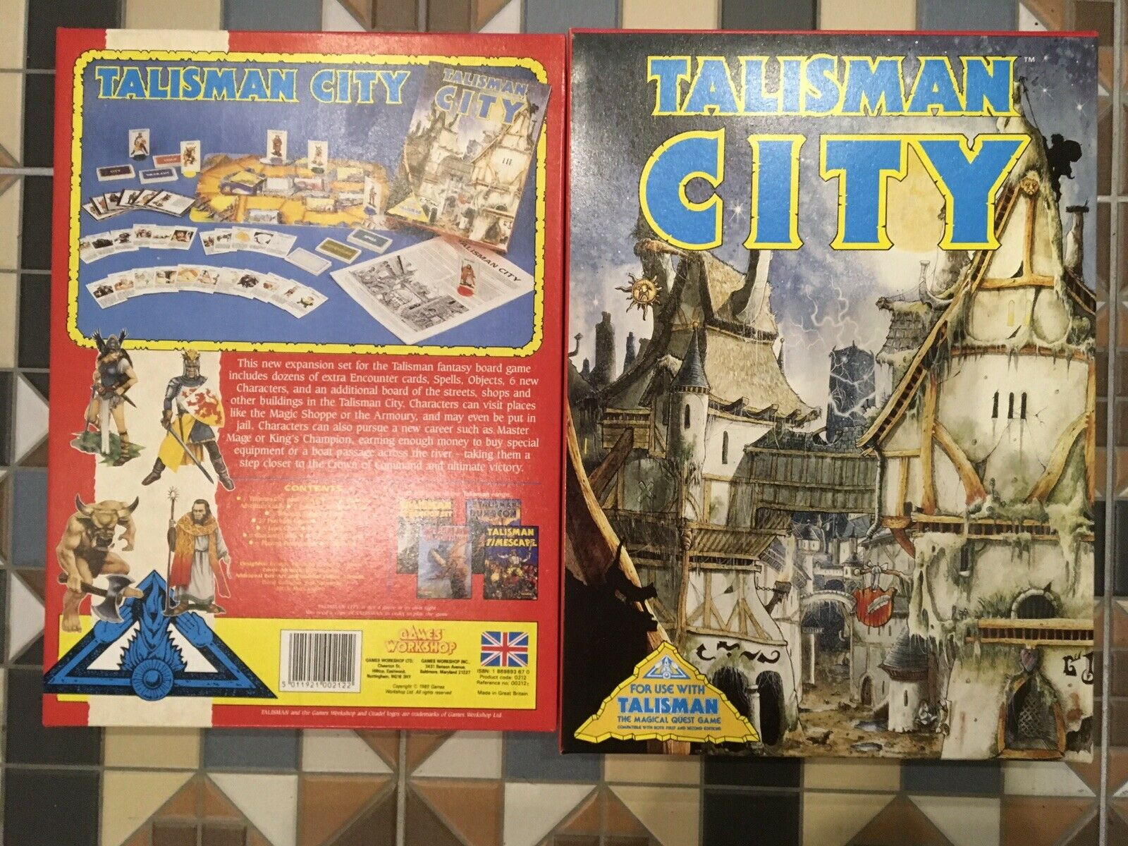 Talisman City Expansion Boad Game - Boxed and Complete