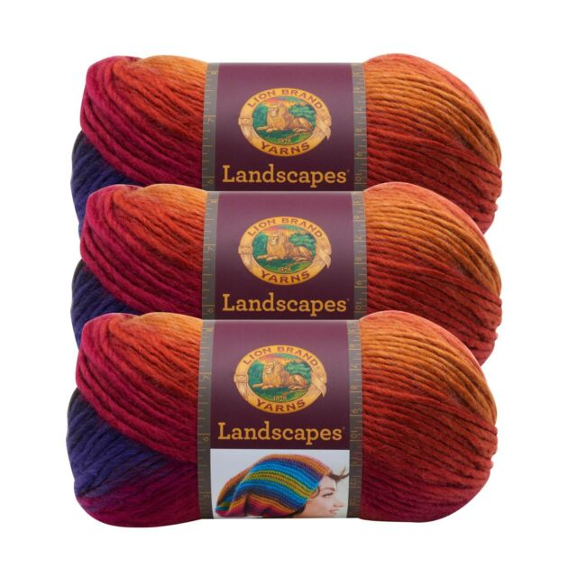 Meadow Pack of 3 skeins Lion Brand Yarn 545-213 Landscapes Yarn