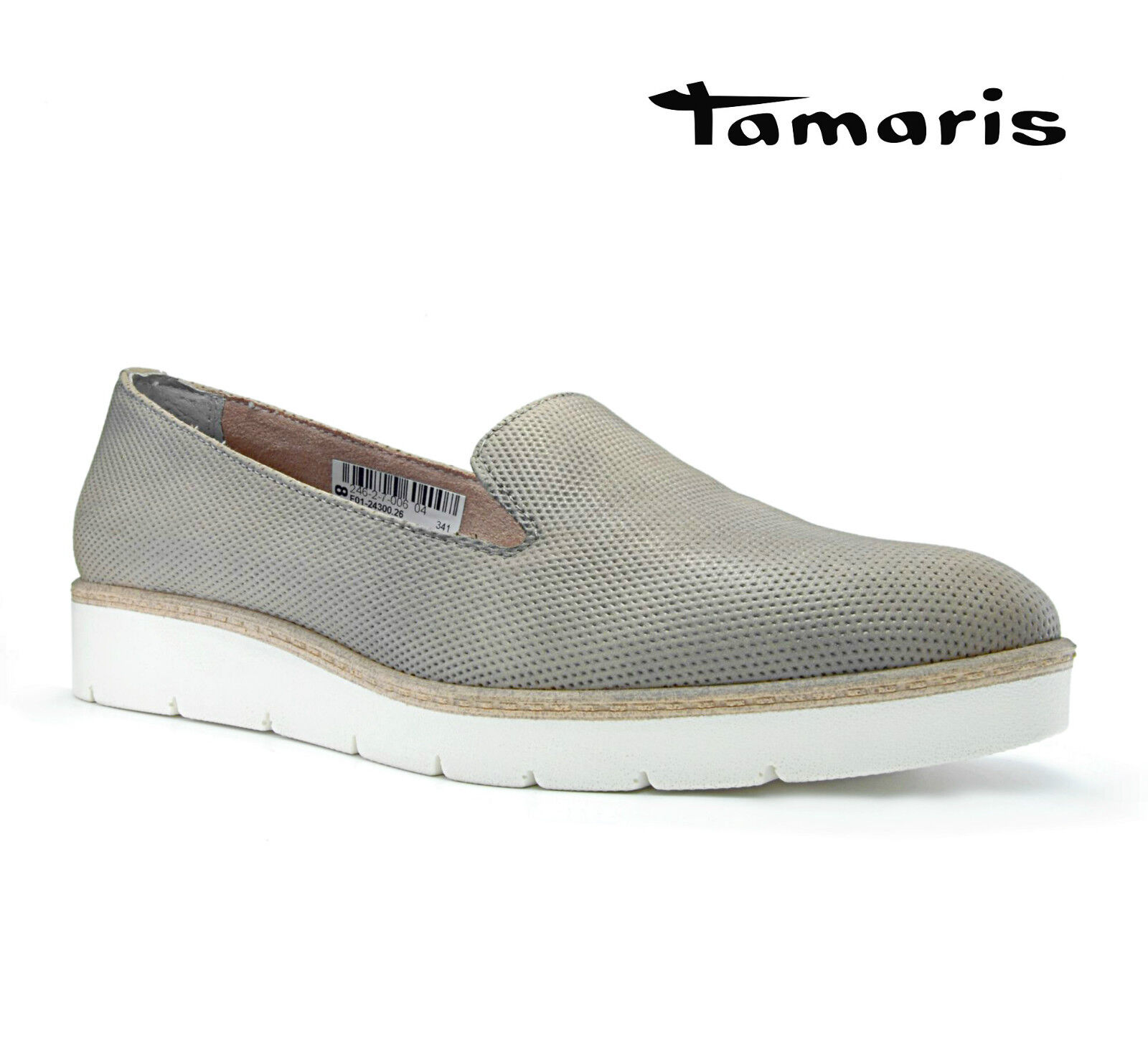 Tamaris Damen Schuhe Taupe Slipper JETTA Beige Taupe Schuhe Nude 24300-26 5f027f