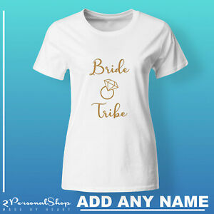 Hen-T-Shirts-Do-Party-Bride-Personalised-T-Shirt-Ladies-Custom-Wedding-Tee