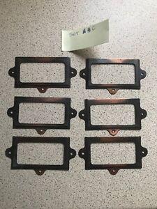 Ambitieux Casier En Métal/tiroir Nom Plaque Porte-set C Lot De Six-afficher Le Titre D'origine