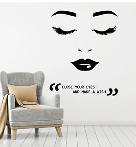 Wall Sticker Red Lip Girl Living Room Bedroom TV Decor Decal Vinyl Quote Art