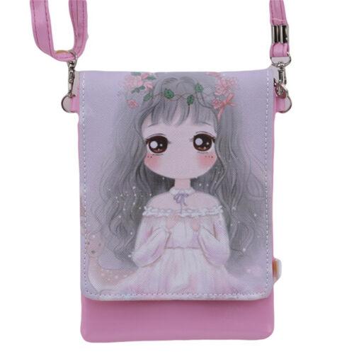 Kids Students Cartoon Girls Teenager Mini Shoulder Bag Cross Body Messager Bag J