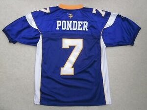 Details about Christian Ponder MINNESOTA VIKINGS Reebok Authentic Jersey NFL Stitched Size 52