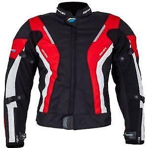 Spada Curve Ladies Motorcycle Jacket Waterproof Textile  - Black/red/white