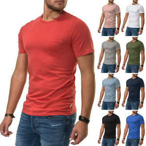 Jack-amp-Jones-Herren-T-Shirt-Basic-Shirt-Kurzarmshirt-Casual-Color-Mix-NEU