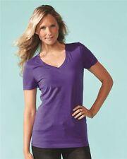 25 Blank NEXT LEVEL Women's Ideal V-Neck Shirt Wholesale Bulk Lot ok to mix S-XL