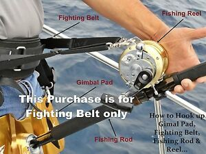 Jaws Ultimate Fighting Belt reel Harness for Big game Jigging Fishing Rod  size M | eBay | Reel Harness |  | eBay
